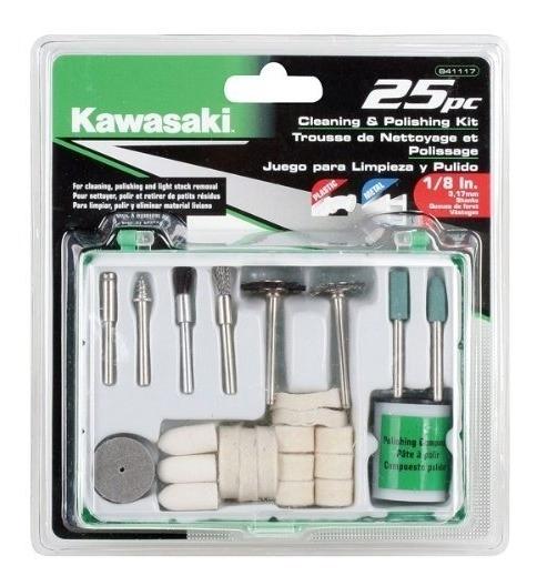 Kit De Limpieza Y Pulido Kawasaki 841117, 25 Piezas