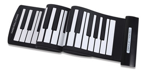 61 Teclas Porttil Flexvel Roll-up Piano Usb Midi Teclado