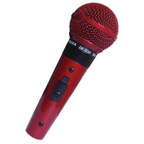 Microfone Profissional Com Fio Cardióide Leson Sm58 P4 Red