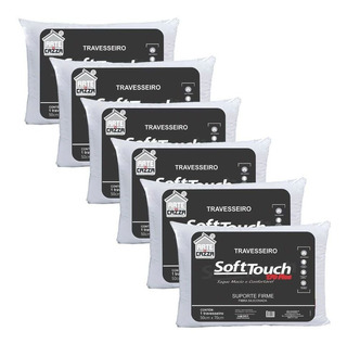 Kit 6 Travesseiros Soft Touch 170 Fios - 50x70 Arte E Cazza