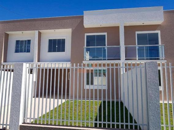Sobrado Com 3 Dormitórios À Venda, 91 M² Por R$ 290.000,00 - Tindiquera - Araucária/pr - So0070