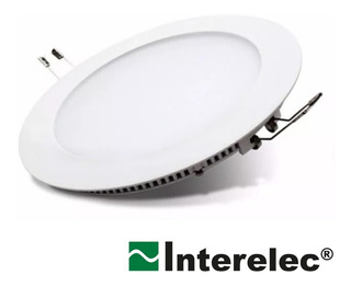 Panel Led Redondo Embutir 18w L.dia 6500k Interelec Pack 4u