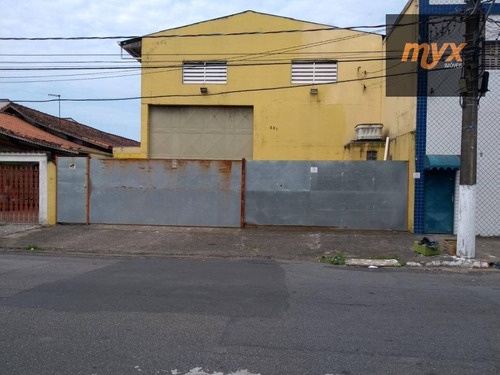 Imagem 1 de 7 de Galpão Para Alugar, 320 M² Por R$ 8.000,00/mês - Vila Guilhermina - Praia Grande/sp - Ga0123