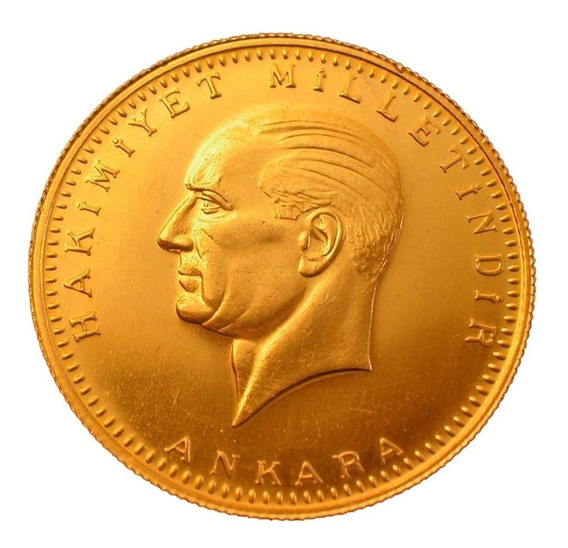 Moneda De Oro 25 Kurush Ata Ceyrek Turco Año 2016 Ceyrek Alt