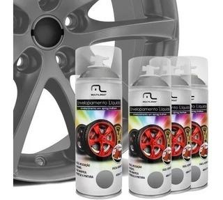 Kit 4 Spray De Envelopamento Para 4 Rodas Prata Multilaser