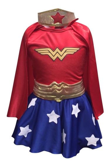 Disfraz Mujer Maravilla Niña (talles 4-6-8)