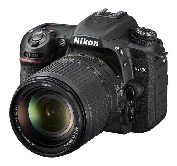 Nikon D7500 18-140mm ED VR Kit DSLR cor preto