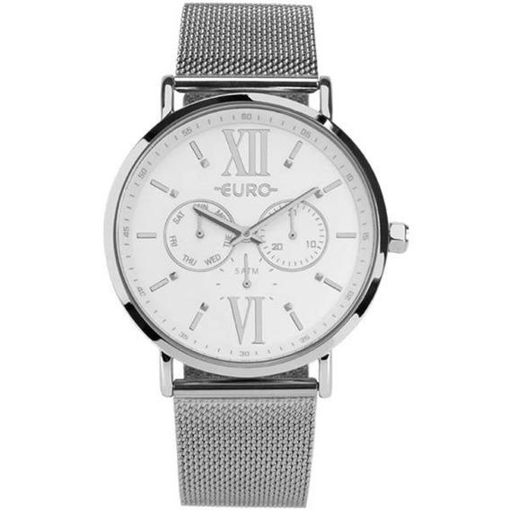 Relógio Euro Feminino Prata Eu6p29ahf/3k