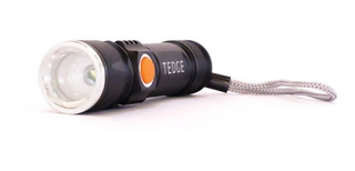 Linterna Led - Tedge - Táctica 150 Lumens Recargable Usb