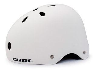 Casco Bicicleta Cool Sk11 Blanco Rcmdr