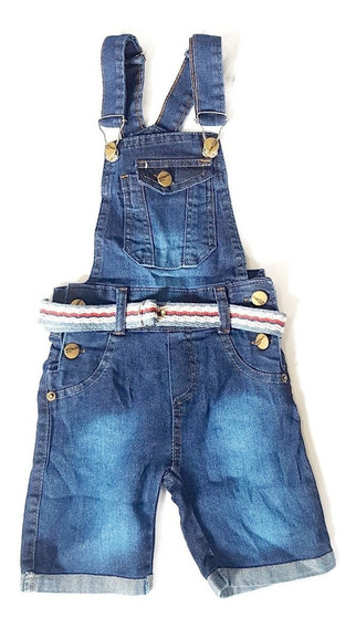 Jardineira Jeans Infantil Menino 1 A 6 Anos