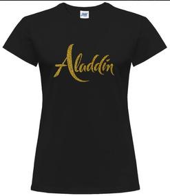 Blusa Estampada Aladdin / Glitter Oro