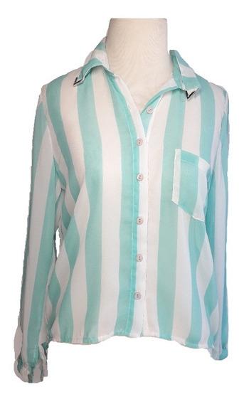 Camisa Mujer Gasa Translucida Moda Las Antonias La6009
