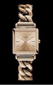 Relógio Guess Feminino Rosé Pulseira Corrente 92672lpgtra2