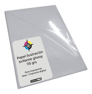 Papel Ilustracion A3 Brillante Glossy 115 Grs 100 Hs Laser