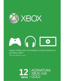 Xbox Live Gold 12 Meses - Código 25 Dígitos Envio Imediato