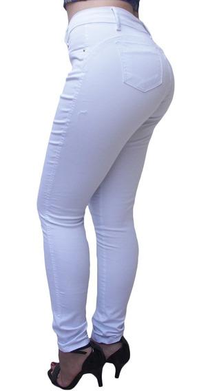 Calça Jeans Cintura Alta Preta Branca Azul Liquidação