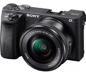 Câmera Sony A6500 Kit-16-50 Mirroless Aceita Flash Externo