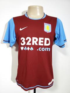 Camisa Oficial Aston Villa Inglaterra 2007 Home Nike Tam P