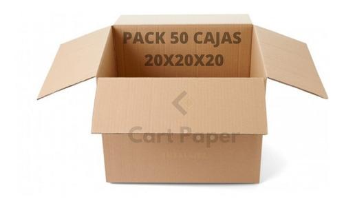 Imagen 1 de 2 de Cajas De Cartón 20x20x20/ Pack 50 Cajas / Cart Paper