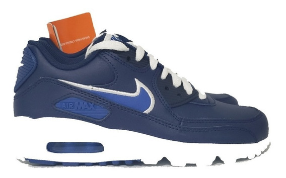 Nike Am 90 Leather Little Kids Tenis Infantil Azul