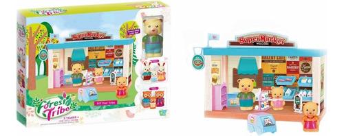 Set Forest Supermarket Con Familia Oso Y Acc En Caja