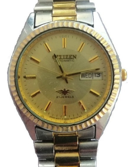 Reloj Citizen Automatic 21 Jewels Vintage 1982 Excelente