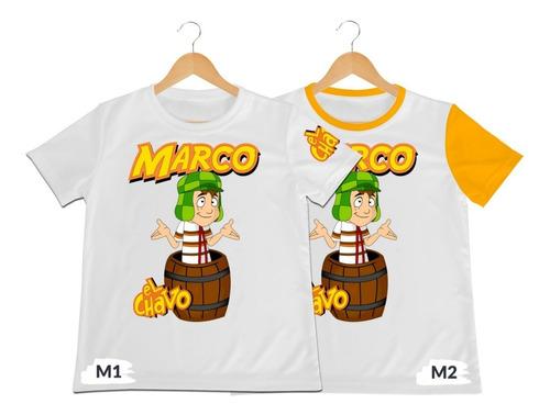 Camiseta Camisa Niño El Chavo Del Ocho Poliester