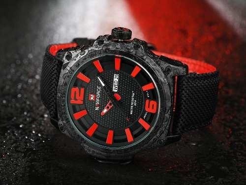 Relógio Masculino Naviforce 9066 Esportivo Pulseira Nylon