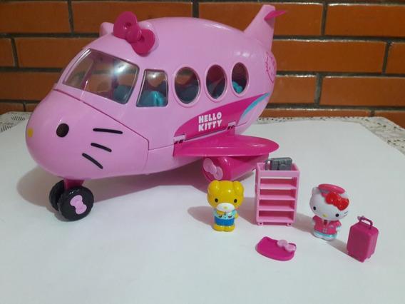 Avion Hello Kitty Conjunto De Aerolinea 2 Figuras Y Accesori