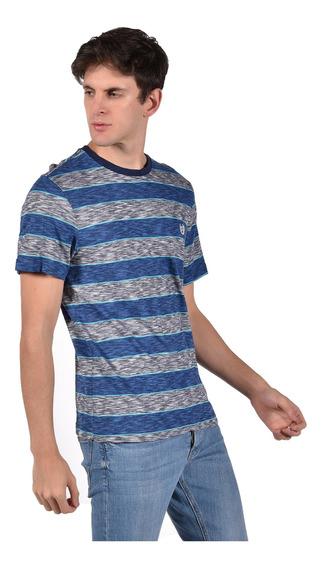 Playera Regular Fit Chaps Azul 750703708-2wcx Hombre