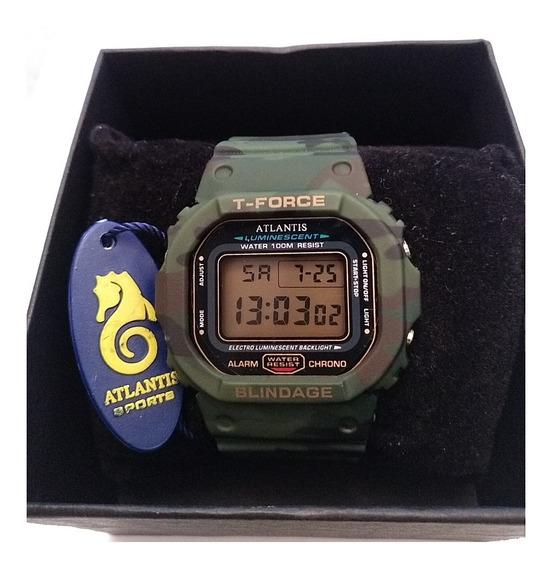 Relógio Atlantis T-force 7305 G Militar C/ Caixa