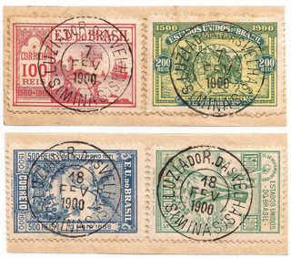 Selo 1ª Série Comemorativa Do Brasil 1900 Cbc Minas Gerais