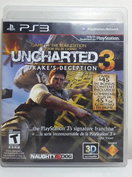 Jogo De Ps3 Uncharted 3 Dublado Em Mídia Física.