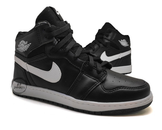 Tênis Masculino Cano Alto Air Jordlan Chicago Retro High+fg*