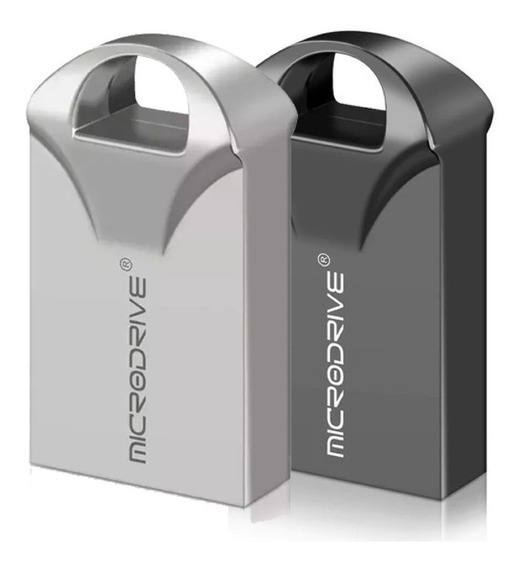 Mini Pendrive Inox Escovado 64gb Fashion Ultra Rápido
