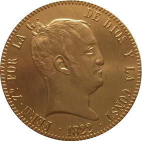 Moeda De Ouro Espanha Fernando Vii 1822 24 K