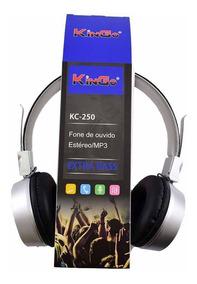 Fone De Ouvido Headphone Kingo Com Fio Kc-250- Original