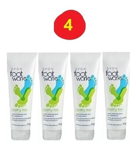 4 Footworks Avon Creme Hidratante Para Pés 90g Desodorante