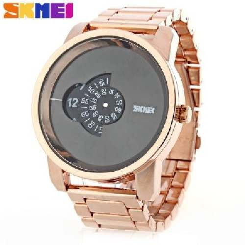 Relógio Skmei 1171 Dourado Luxo Pronta Entrega + Brinde