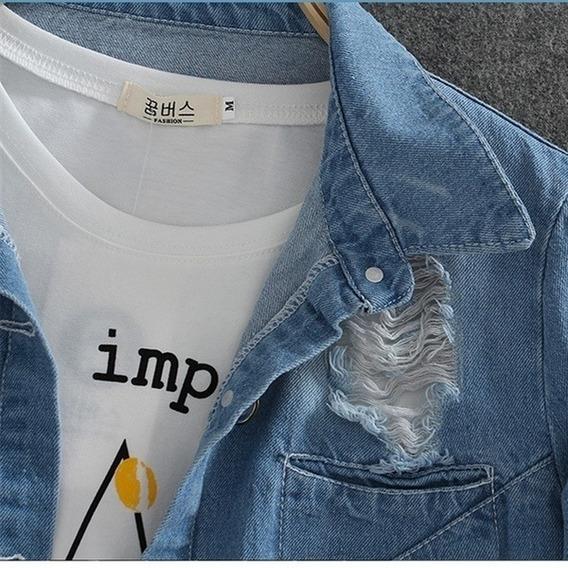 Camisa Jeans P Ao 5xl Plus Size Importada 12x S/ Juros Frete