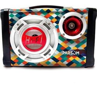 Parlante Bluetooth Portatil Parson Tunnex | Radio Usb Aux |