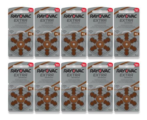 60 Pilhas Auditiva Rayovac Extra Duração 312 Pr41