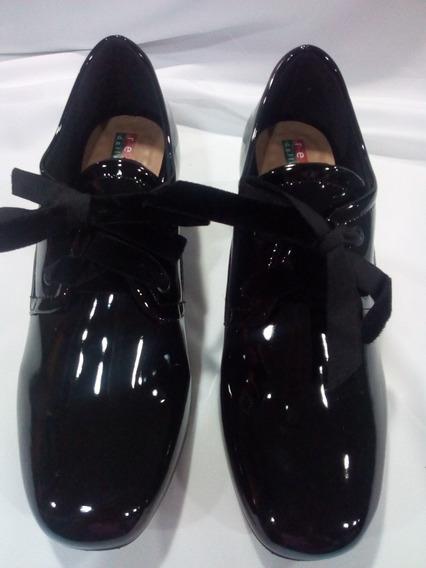 Sapato Feminino Numeros Especiais Preto/verniz 25771.79