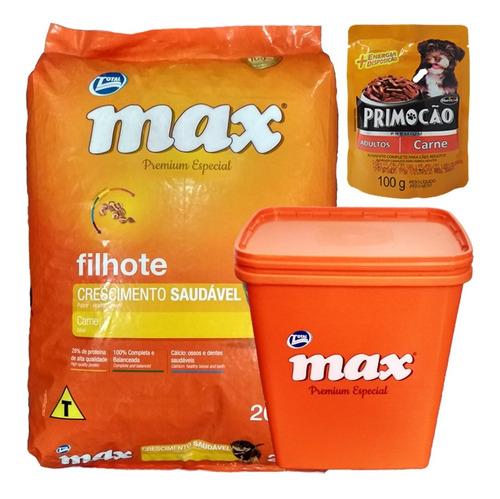 Comida Perro Cachorro Max Carne 20 Kg + Regalo + Envío