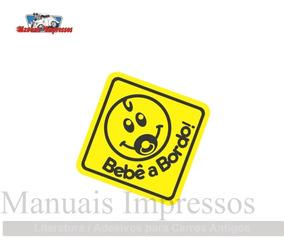 2 Adesivos Bebê A Bordo Mod. 02 - Carro Moto Decorativo