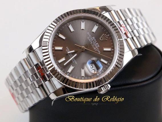 Relógio Eta - Modelo Datejust Grey Dial Ar Factory