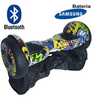 Hoverboard Skate Elétrico Bateria Bolsa Bluetooth Colorido