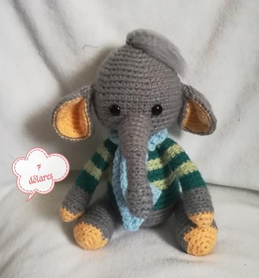 Elefante Amigurumi Crochet - $ 350,00 en Mercado Libre | 568x529