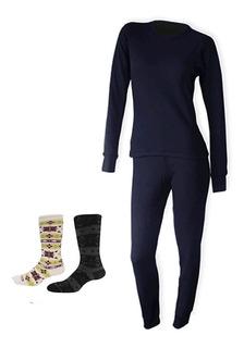 Conjunto Termico Remera Y Calzon Primera Piel+medias Hombre